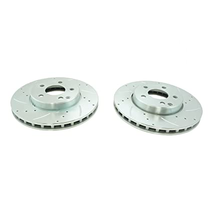 Nakamoto Performance Brake Rotor Drilled /& Slotted Coated Rear Pair for Audi
