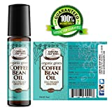 green grape seed oil massage - Organic Green Coffee Bean Oil for Puffy Eyes, Dark Circles, Wrinkles and Bags | Organic, Cold Pressed, Unrefined, 100% Natural (10ml)