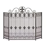 Accent Plus Fireplace Screens Three Panel Decorative French Revival Antique Fireplace Screen