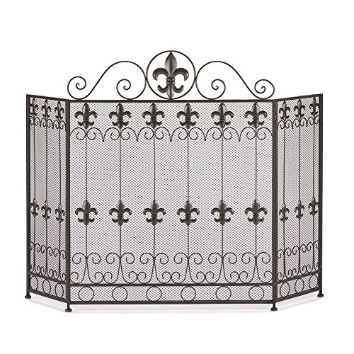 Accent Plus Fireplace Screens Three Panel Decorative French Revival Antique Fireplace Screen by Accent Plus