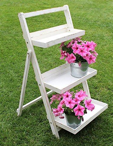 Blumentreppe 14B496 aus Holz 93cm Blumenständer Pflanzentreppe Blumenregal Regal
