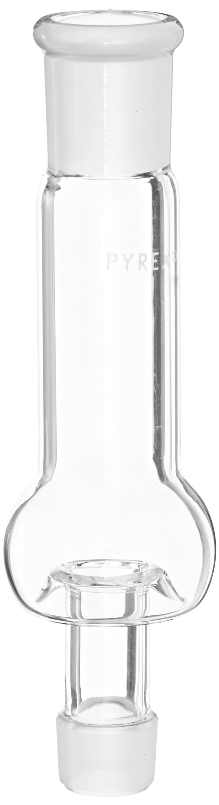 Corning Pyrex Borosilicate Glass Hickman Still Head with Standard Taper Joint 14/10 and Sidearm Port/Cap (Case of 2)