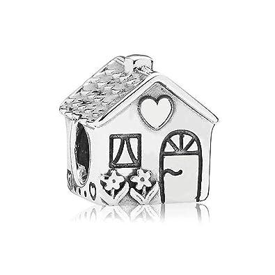 a1fd66e68 Amazon.com: Romántico Amor Christams Sweet Home Charms Family Silver Bead  Fit Pandora Bracelet Jewelry: Jewelry