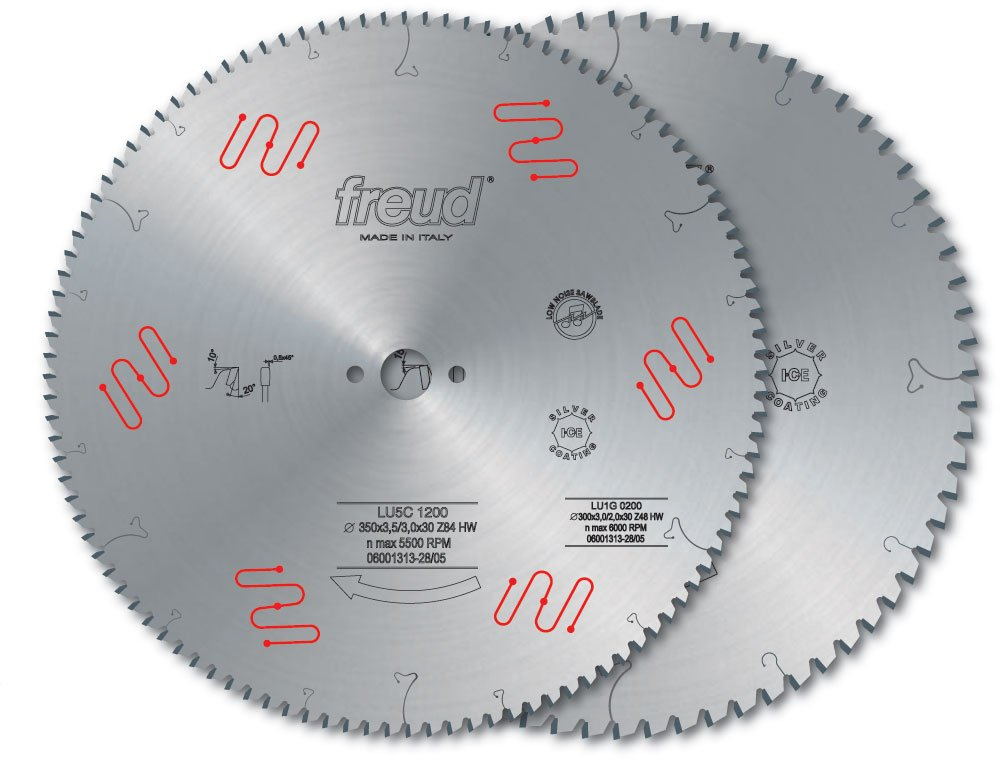 Freud LU5C13 350mm 84 Tooth Carbide Tipped Blade for Cutting Aluminum and Non-Ferrous Metals by Freud