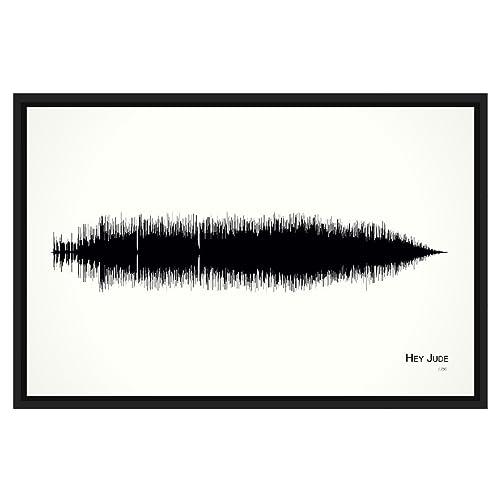 Amazon Hey Jude 11x17 Framed Soundwave Print Handmade