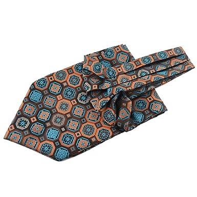 9b7ec977e8ef5 ROBO Hommes Echarpe En Soie Cravate Foulard Col De Chemise Echarpe  D'affaires: Amazon.fr: Vêtements et accessoires
