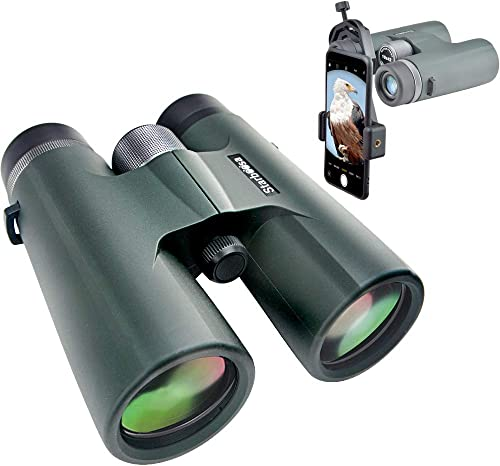 Starboosa 10×42 Binoculars for Adults with Smartphone Holder – Waterproof Binocular with Durable and Clear BAK4 Prism for Bird Watching Wildlife Hunting Camping Hiking