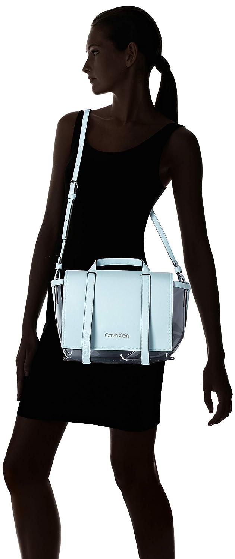 4dbba12efc33b4 Calvin Klein Slide Top Handle Tr - Borse a tracolla Donna, Blu (Pale Blue),  12.5x30x41 cm (B x H T): Amazon.it: Scarpe e borse