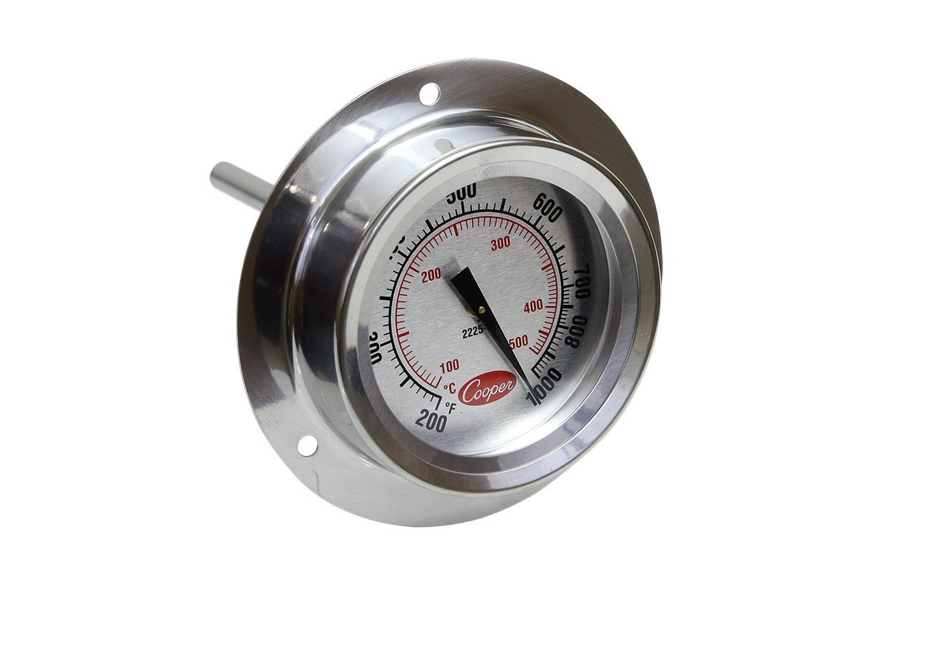 Cooper-Atkins 2225-20 Stainless Steel Bi-Metals Industrial Flange Mount Thermometer, 200 to 1000 Degrees F Temperature Range by Cooper