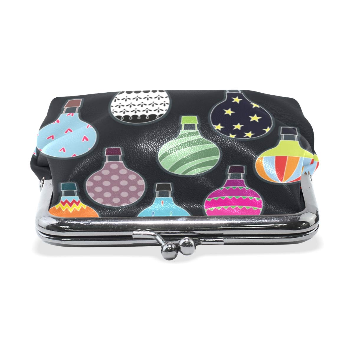 Exquisite Buckle Coin Purses Camo Hot Air Balloons Mini Wallet Key Card Holder Purse for Women