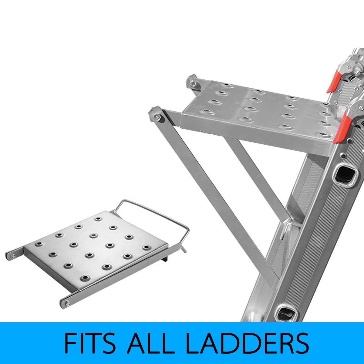 150 Kg belastbar Einh/ängetritt stabiler Arbeitspodest zum Einh/ängen in Leitern Anlegeleitern Trittfl/äche Plattform Leiter Zubeh/ör Max Stehleitern