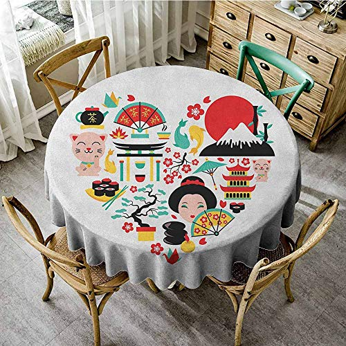 Outdoor Round Tablecloth 35