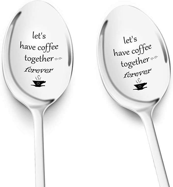 Handstamped Coffee SpoonCoffee loverfriend giftgift for herstamped spoon