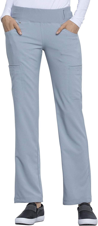 CHEROKEE Women's Iflex Mid Rise Straight Leg Pull-on Pant