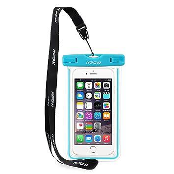 Mpow Funda Impermeable Móvil Universal 6 Pulgadas, Bolsa Movil Playa a Pruebva de Agua y Polvo de Suciedad, Funda Movil Agua IPX8 para iPhone 6 6s 5s ...