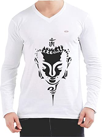 e1d4d42841f144 Style Eva - Gautam Buddha - White T-Shirts Printed Collections for Men and  Women - Round Neck/V Neck with Half Sleeves and Full Sleeves: Amazon.in:  Clothing ...