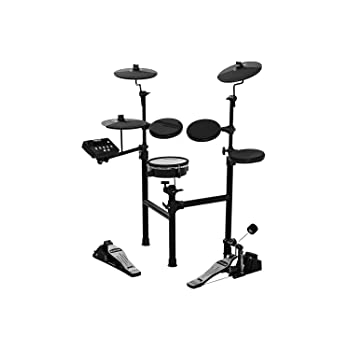 HXW SD61-2 Electric Drum Set Compact 8 Piece Electronic Drum Kit