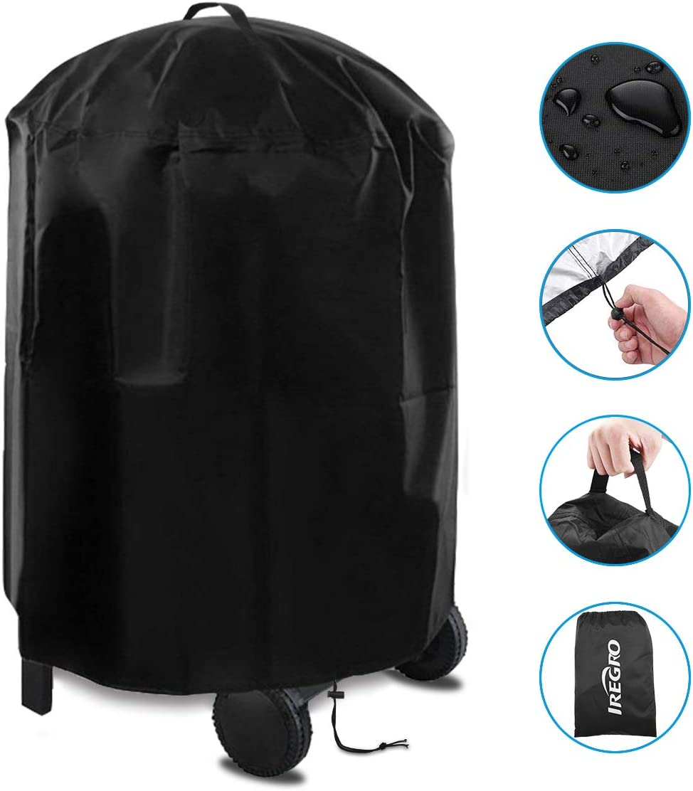 147 * 61 * 122cm IREGRO Barbecue Cover,BBQ Cover Heavy Duty Oxford Fabric BBQ Grill Cover Waterproof,Rip-Proof,UV Resistant/&Windproof with Storage Bag For Weber,Holland,Jenn Air,Brinkmann Char Broil