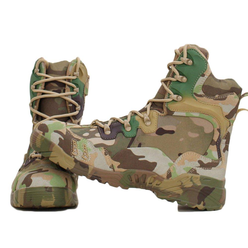 Nihiug Wanderschuhe Männer Wasserdichte Knöchel Leichte Camouflage Kampfstiefel Hi-Top Taktische Wüste Armee Stiefel Outdoor Schuhe