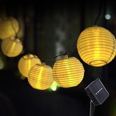 Solar Lichterkette Au/ßen Lampions infinitoo 6M 30er Wasserdicht Warmwei/ß LED Lampions Laterne Lichterkette mit Fernbedienung Garten Innen und Au/ßenbereich f/ür Party