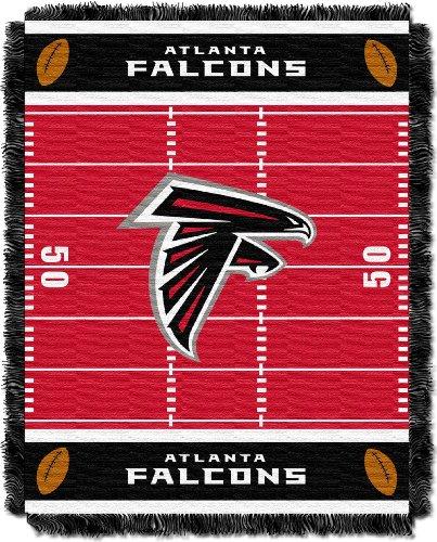 """NFL Atlanta Falcons Field Bear Woven Jacquard Baby Throw, 36"""" x 46"""""""