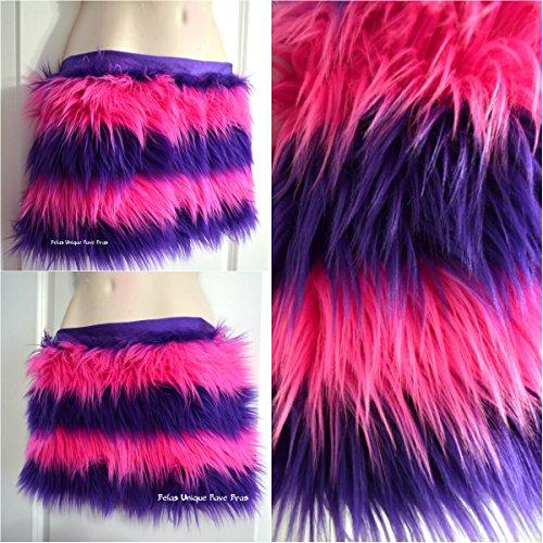 Alice in Wonderland Cheshire Cat Fur Rave Skirt Costume