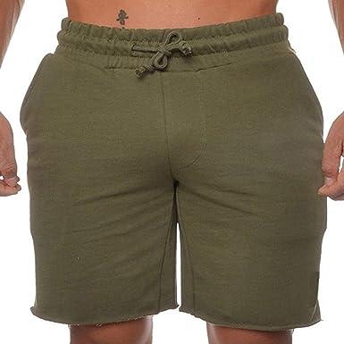Pantalones Cortos para Hombres Pantalones Cortos Hombres Pantalones Sport para Ropa Festiva Cortos Tipo Bermuda con Corte De Algodón Regular Fit Solid: Amazon.es: Ropa y accesorios