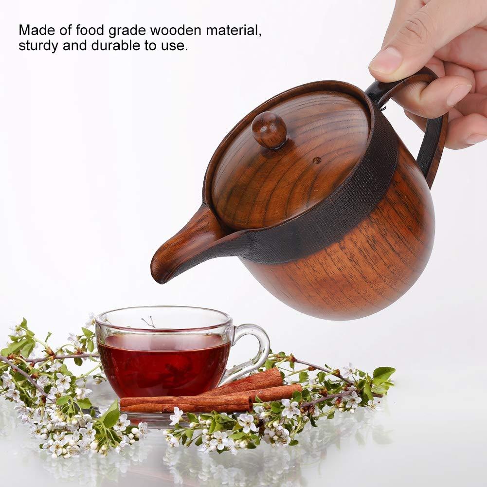 Petite th/éi/ère en bois avec tamis infuseur d/écoratif infuseur th/éi/ère-camping en plein air caf/é th/é bouilloire pot
