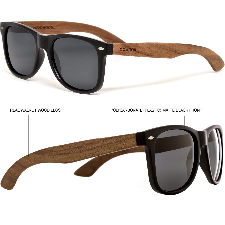 Amazon.com: Madera de Nogal para anteojos de sol Wayfarer ...