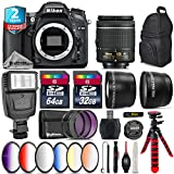 Holiday Saving Bundle for D7100 DSLR Camera + AF-P 18-55mm + 64GB Class 10 Memory Card + 6PC Graduated Color Filter Set + 2yr Extended Warranty + 32GB Class 10 Memory Card - International Version