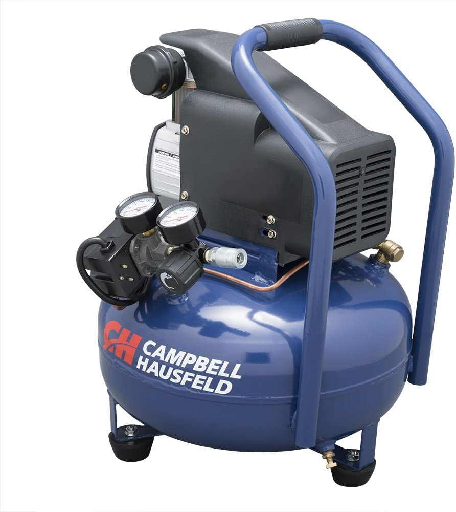 Campbell Hausfeld Air Compressor, Electric 6-Gallon Pancake Oilless 2.5CFM 0.8HP 120V 7A 1PH HM750000AV