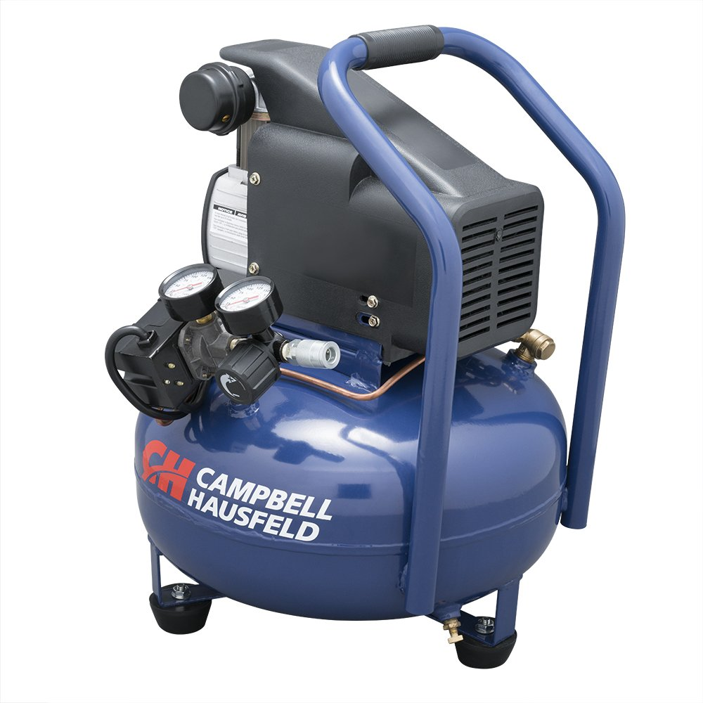 Campbell Hausfeld Air Compressor, Electric 6-Gallon Pancake Oilless 2.5CFM 0.8HP 120V 7A 1PH (HM750000AV)