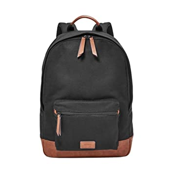 aac2627492 FOSSIL Estate Backpack Black  Amazon.co.uk  Shoes   Bags