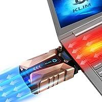 KLIM Cool - Base de Refrigeración para Portátil en Metal - La más Potente - USB con Aspiradora de Aire para Enfriamiento Inmediato - Base Refrigeradora para el Recalentamiento