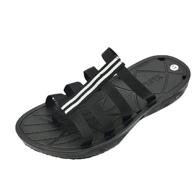 Bestow Zapatillas de PVC Personalizadas con Cinta de Color Que Combinan con el Color de la Moda y con una Sencilla Cuerda Antideslizante con Sandalias: ...