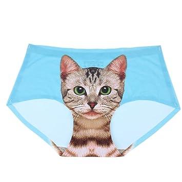 3D Kitten Höschen Slip Schlüpfer Katze gedruckt nahtlose Unterwäsche Unterwäsche