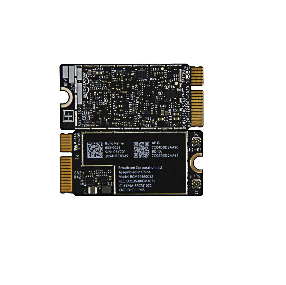 "BCM94360CS2 WiFi Bluetooth Airport Wireless Card Replacement for MacBook Air 11"" A1465 (2013, 2014, 2015) 13"" A1466 (2013, 2014, 2015, 2017) (661-7465, 661-7481, 653-0023)"