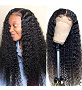 13x4 Human Hair Wigs for Black Women Brazilian Deep Wave Lace Front Wigs Human Hair Pre Plucked 1...