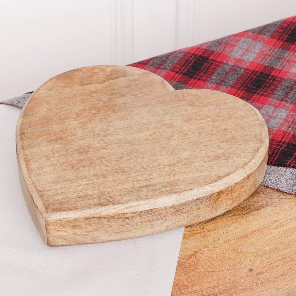 Grueso de madera con forma de corazón salvamanteles, ideal ...