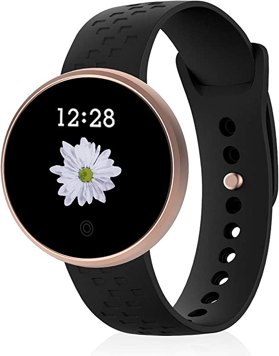 Smart Watch Compatible with iPhone Android, Womens Waterproof Bluetooth Smart Watch Fitness Tracker, Activity Tracker, Heart Rate Monitor, Sleep ...