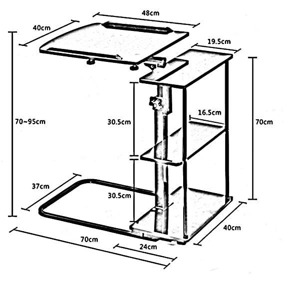 Amazon Com Xiaoyan End Table Folding Bedside Table Height