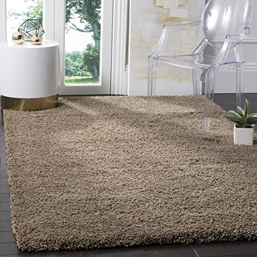 Safavieh California Shag Collection SG151-2424 Taupe Area Rug (6'7