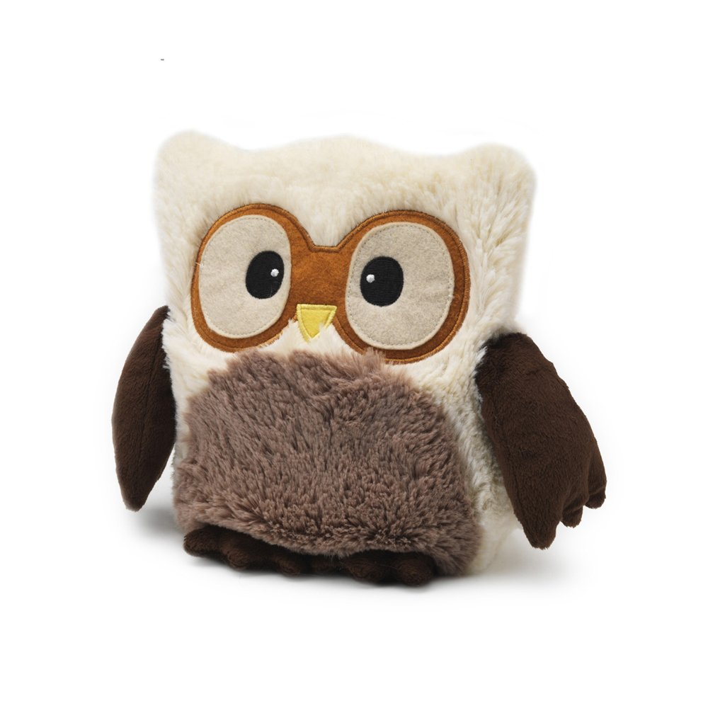 Amazon.com: Intelex Warmies Hooty Fully Microwavable Cozy Plush - Snowy: Health & Personal Care