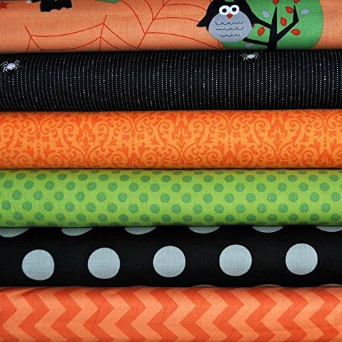Halloween Orange 6 Fat Quarters Bundle for Riley