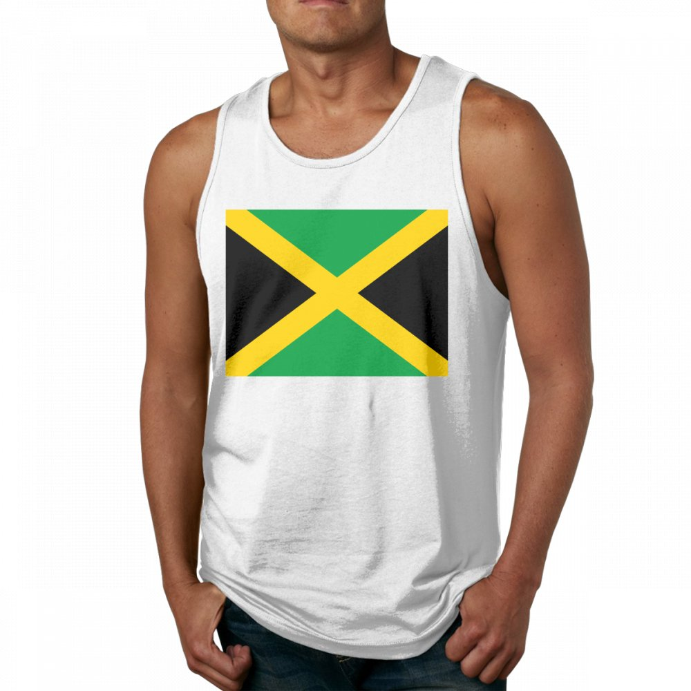 Flag of Jamaica Men's Popular Black Tank Top T-Shirt Fitness Cotton Tees