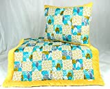 Wood Baby Quilt Set for Crib. Patchwork Handmade Blanket and Pillow Wood Nursery Bedding Set