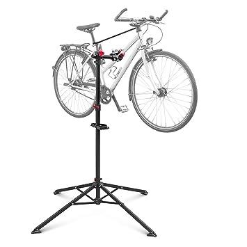 Relaxdays - Soporte caballete plegable para bicicletas, acero ...