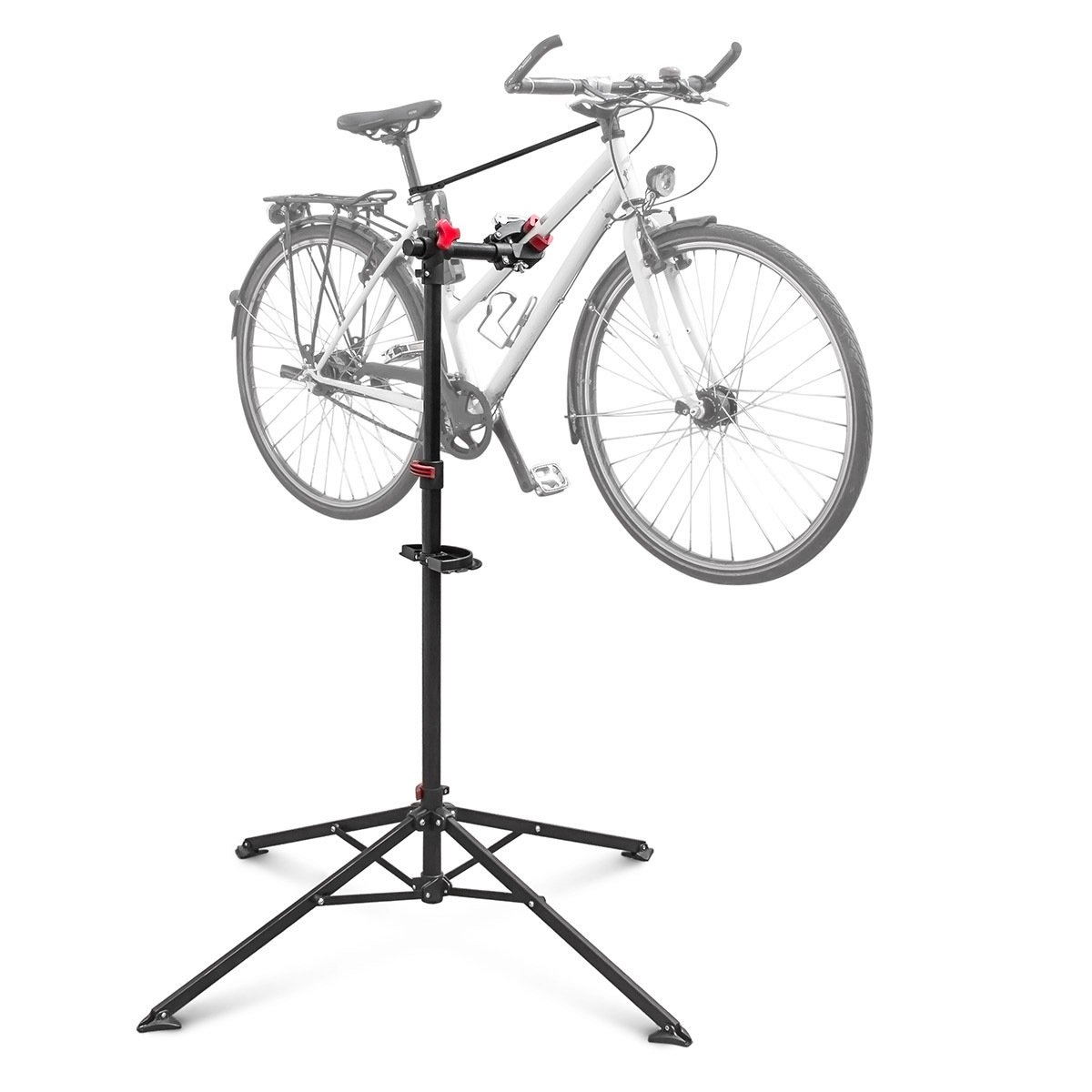 Relaxdays - Soporte caballete plegable para bicicletas, acero pulverizado, soporte hasta 30 kg,