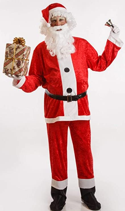 Disfraz de Papa Noel para Adultos: Amazon.es: Juguetes y juegos