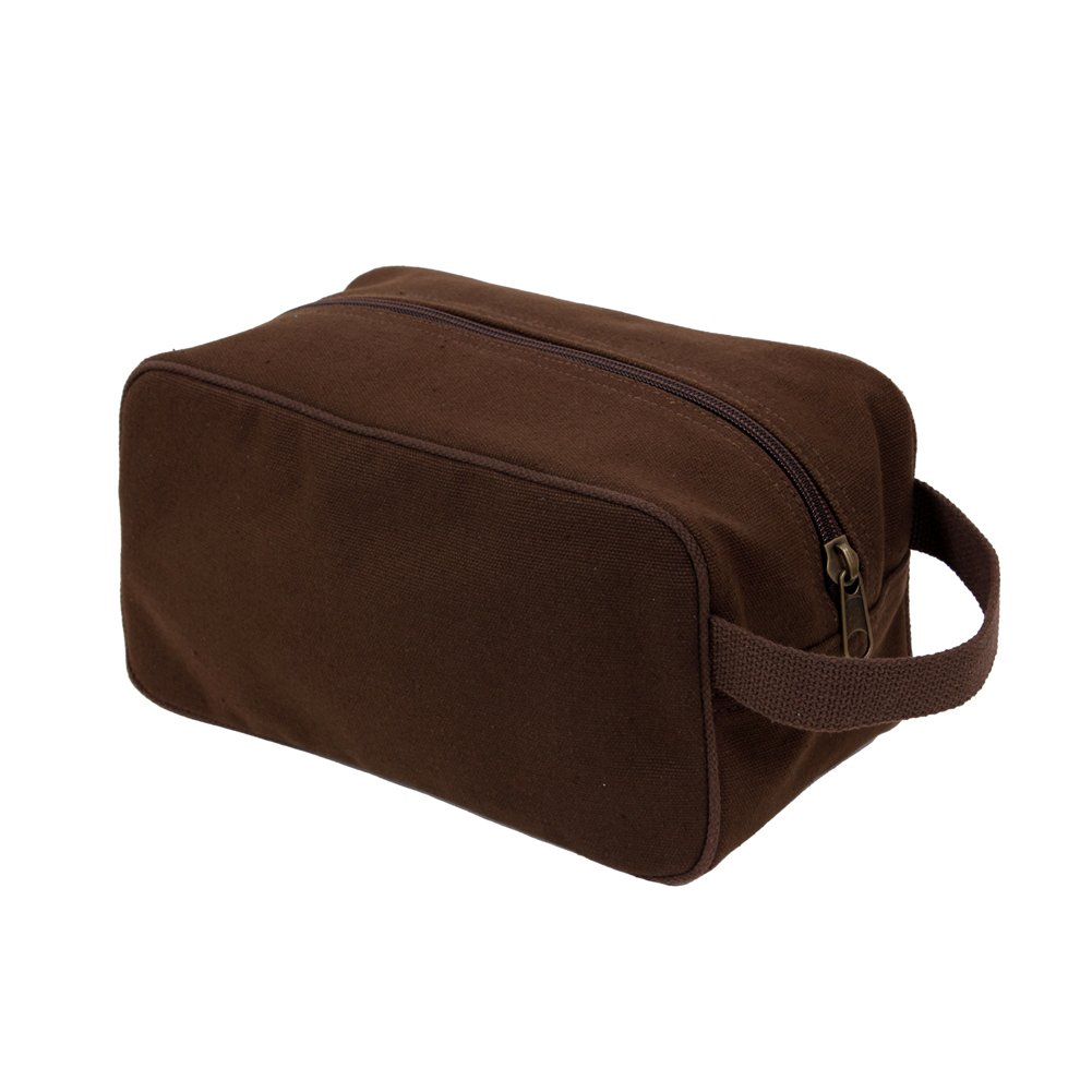 Rothco Men's Canvas Travel Toiletry Kit Earth Brown